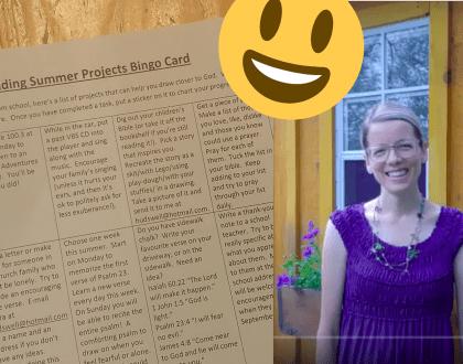 Faith-building Summer Bingo Card