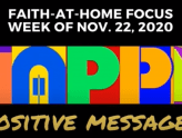 Positive Messages - Faith-At-Home (November 22)