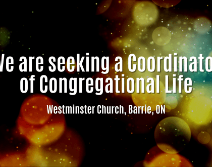 We are seeking a Coordinator of Congregational Life