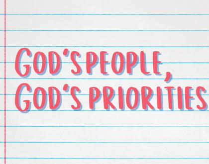 God's people, God's priorities