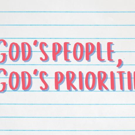 God's people, God's priorities