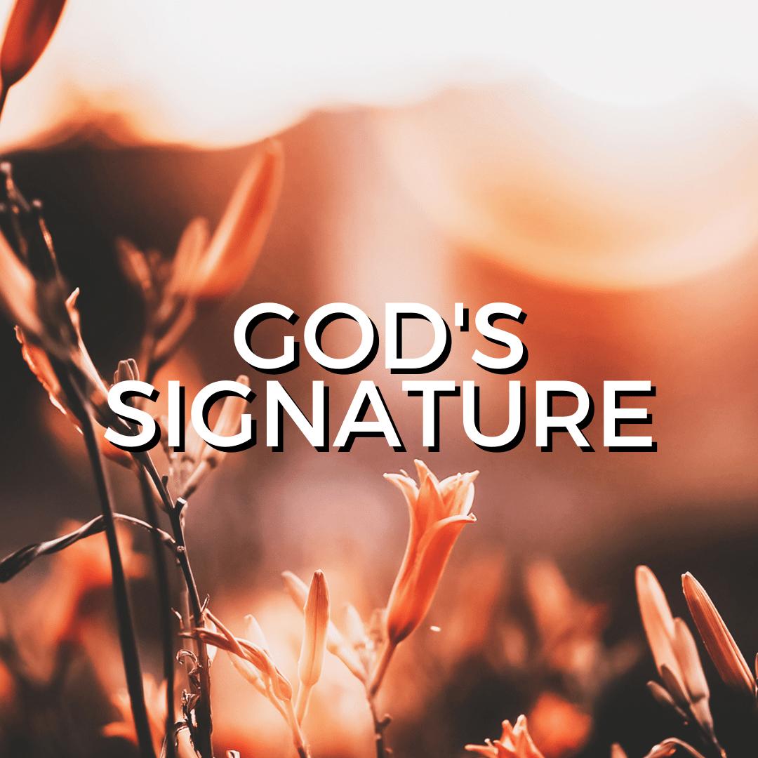 God's signature (Sermon)