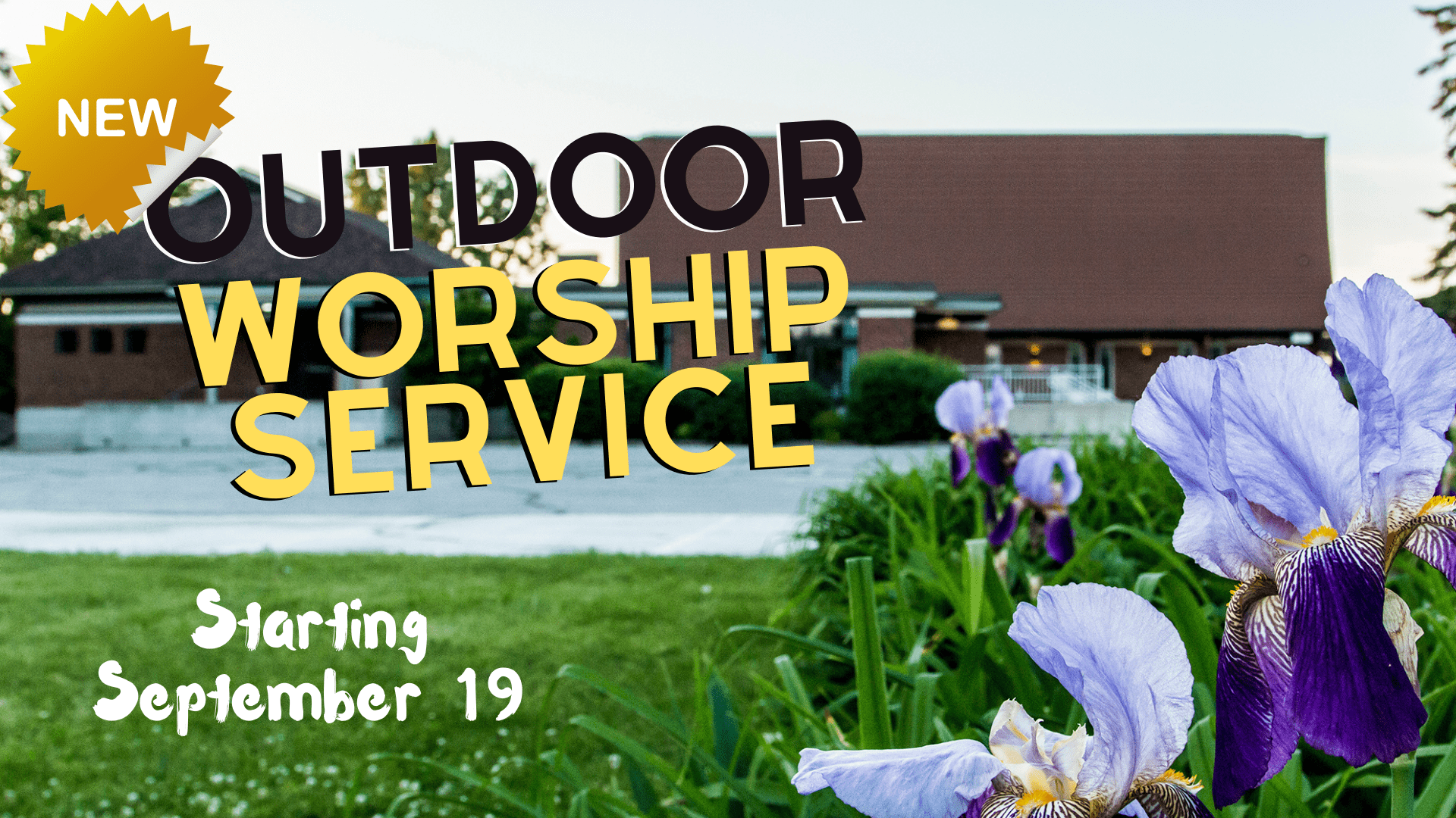 NEW: Outdoor worship services
