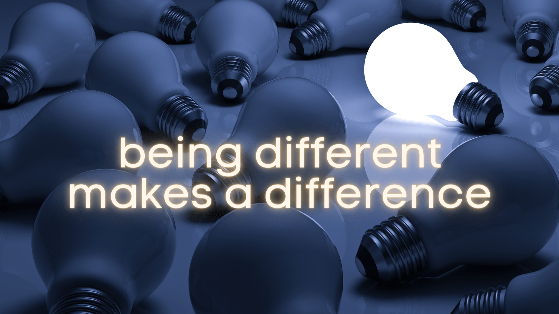 Being different makes a difference